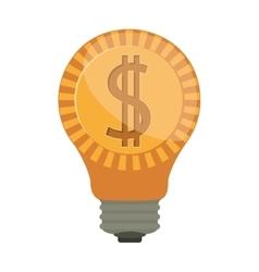 ligth bulb with dollar symbol vector image
