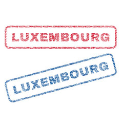Luxembourg textile stamps vector