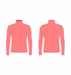 Mens red long sleeve t shirt vector