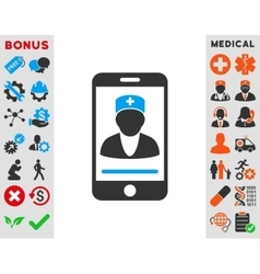 Mobile Doctor Icon vector image