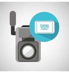Movie video camera cinema ticket vector