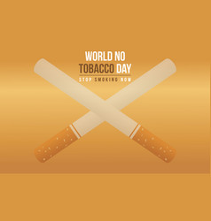 No tobacco day style background collection vector