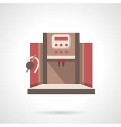 Office coffee machine flat design icon vector