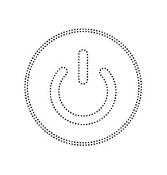 On off switch sign black dotted icon on vector