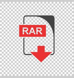 Rar icon flat vector