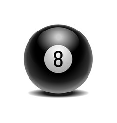 Realistic black eight ball of predictions vector
