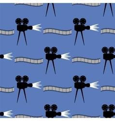 Seamless cinema pattern film strip background vector