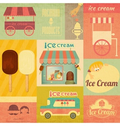 Set of ice cream design elements vector