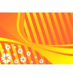 spring orange background vector image