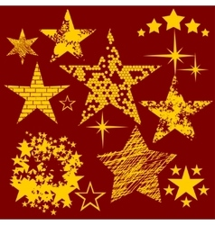 Stars Collection set vector image
