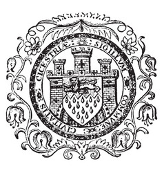 The seal for the city of chichester england vector