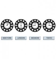 time zone clocks vector image
