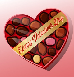 Valentines day candy heart shaped box vector