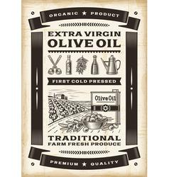 Vintage olive oil poster vector image vector image