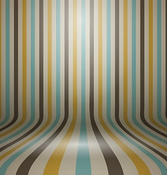 Vintage striped curved display background vector