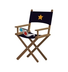 director chair cinema movie design vector image