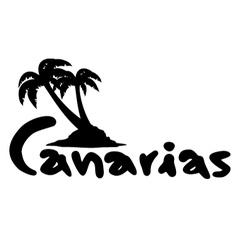 Canarias icon vector