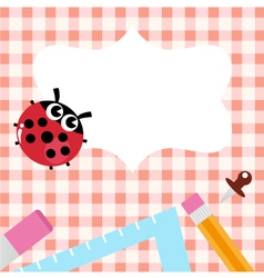 School design with ladybug vector