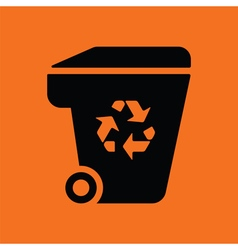 Garbage container recycle sign icon vector