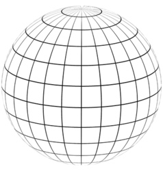 Graticule globe meridian and parallel vector