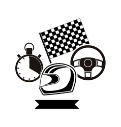 Racing motorsport symbol vector image
