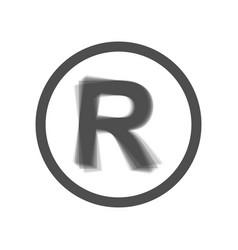 Registered trademark sign  gray icon vector