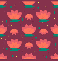 pattern with chinese lotus vector image