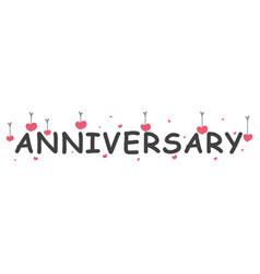Happy anniversary banner vector