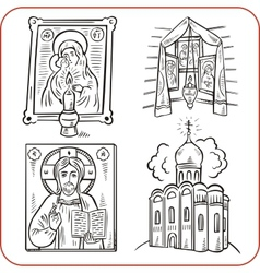 Orthodox religion - vector image