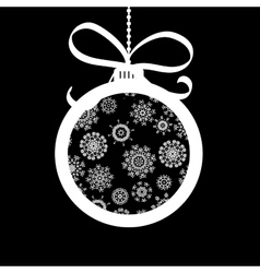 Xmas ball made of white snowflakes  eps8 vector
