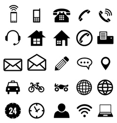 Contact icon collection for business vector