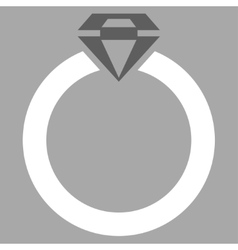 Diamond ring icon from commerce set vector