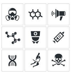 Epidemic icons set vector