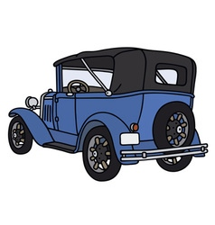 Vintage blue convertible vector