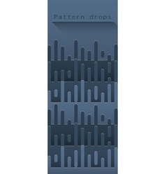 Abstract pattern with drops vector