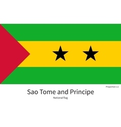 National flag of sao tome and principe with vector