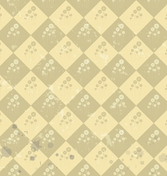 Geometric flower pattern old paper art vector