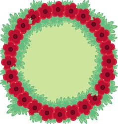 Red flower label background vector