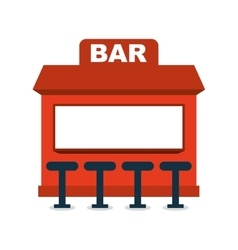 bar shop building icon vector image