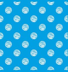 Big planet pattern seamless blue vector