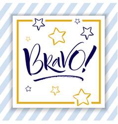 Bravo hand lettering vector