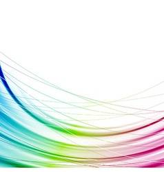 Bright abstract rainbow transparent background vector image vector image
