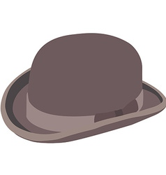 Brown bowler hat vector