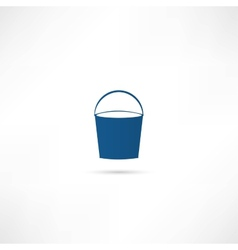 Bucket icon vector image vector image
