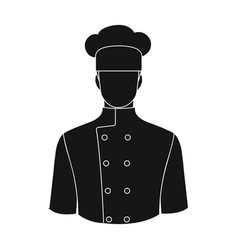 chefprofessions single icon in black style vector image vector image