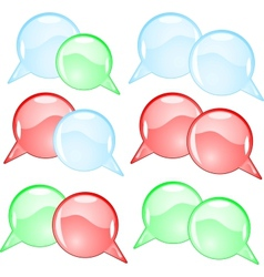 Couple round speech bubbles vector image vector image