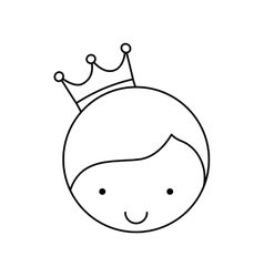 Cute little man character with crown vector