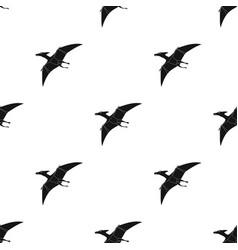 Dinosaur pterodactyloidea icon in black style vector