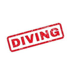 Diving text rubber stamp vector