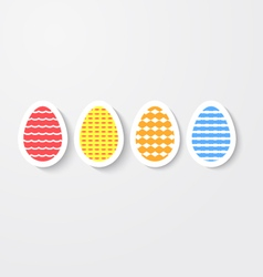 Easter eggs colored with ornaments vector